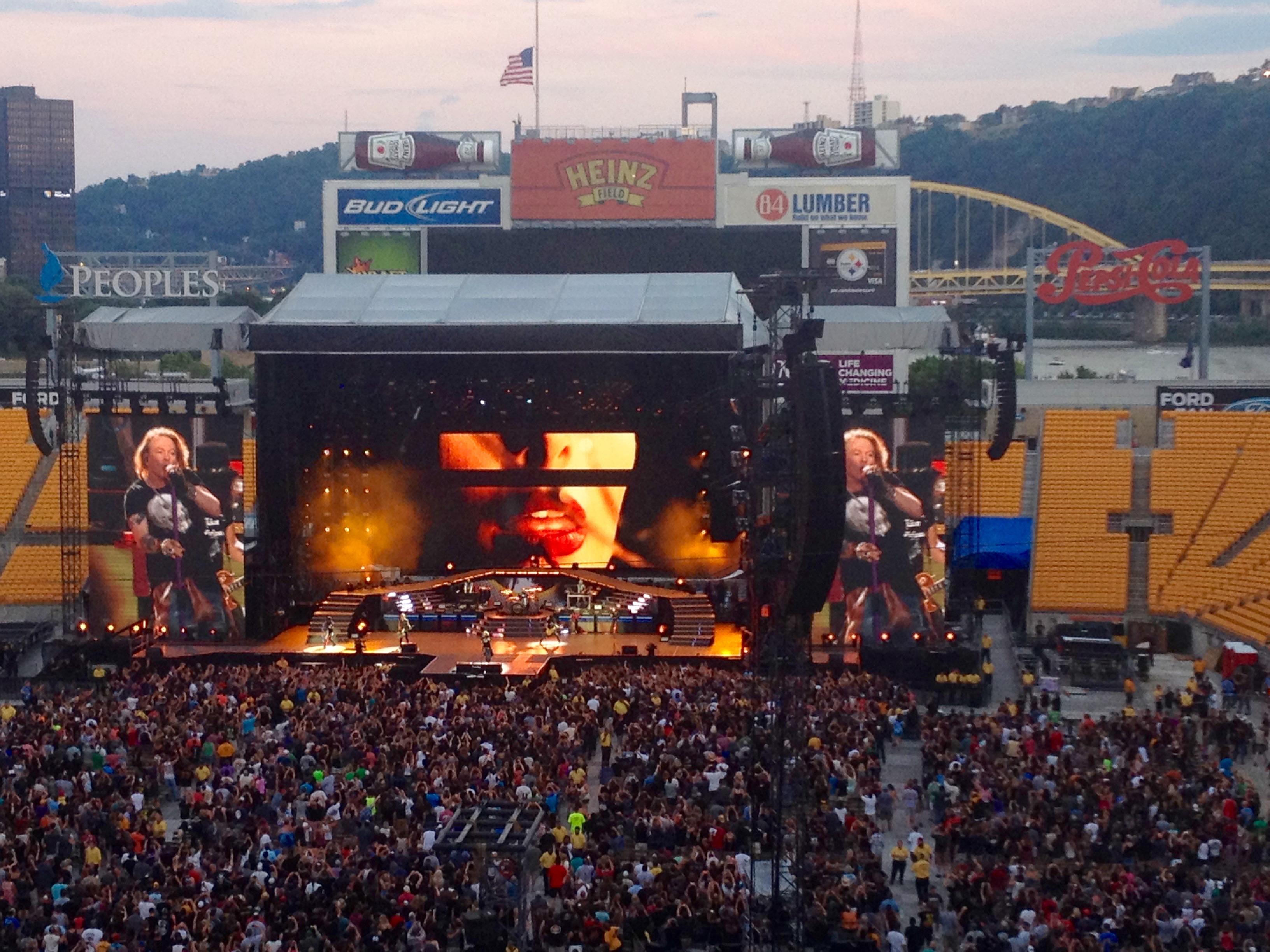 Concert des Guns n Roses @ Heinz Field à Pittsburgh, PA.