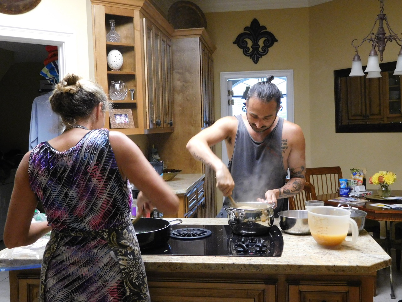 The cousins cooking together!