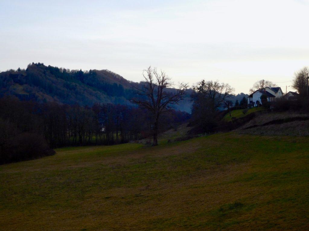 Vue de la maison en Auvergne