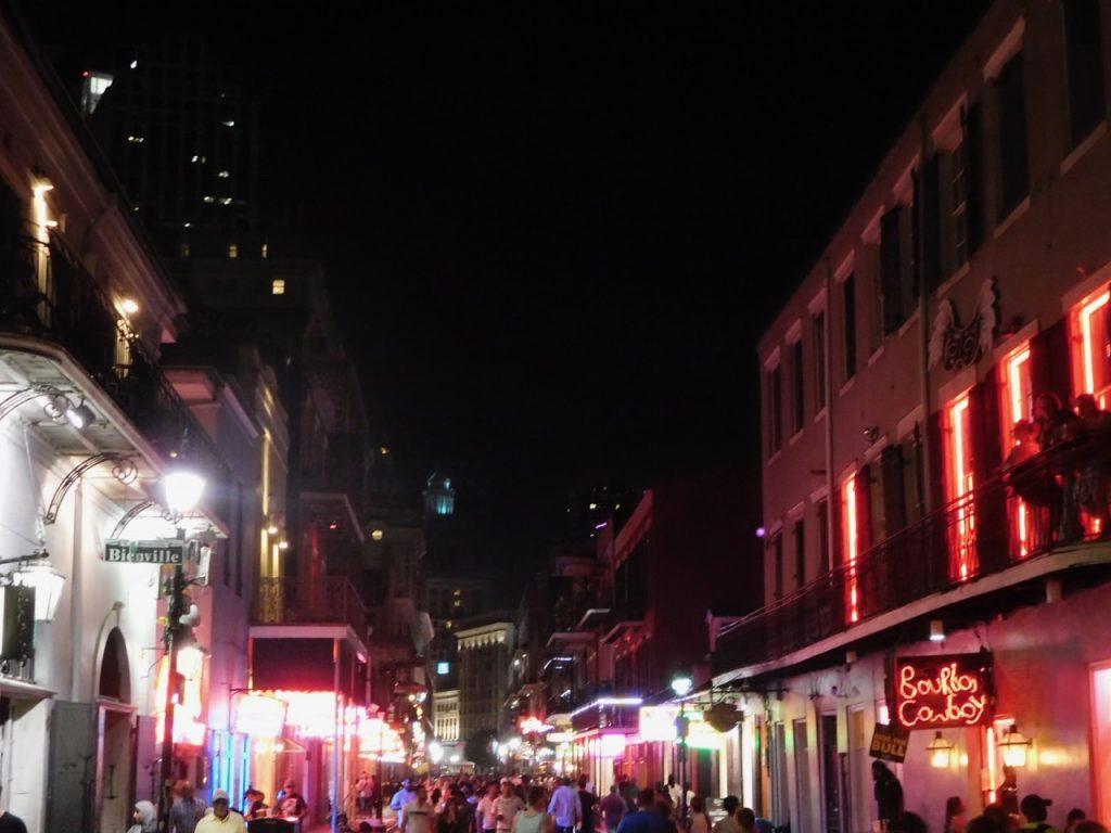 Bourbon St nighttime