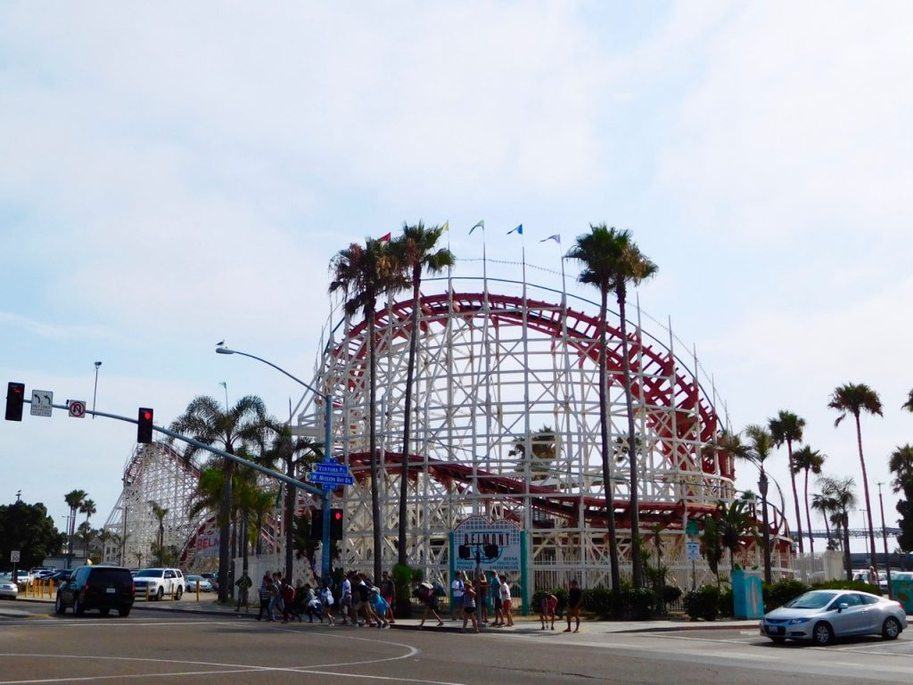 Mission Beach roller coaster