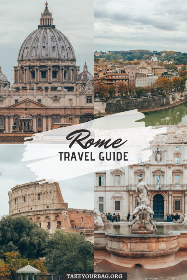 Rome Travel Guide Pinterest Image - Pin it!