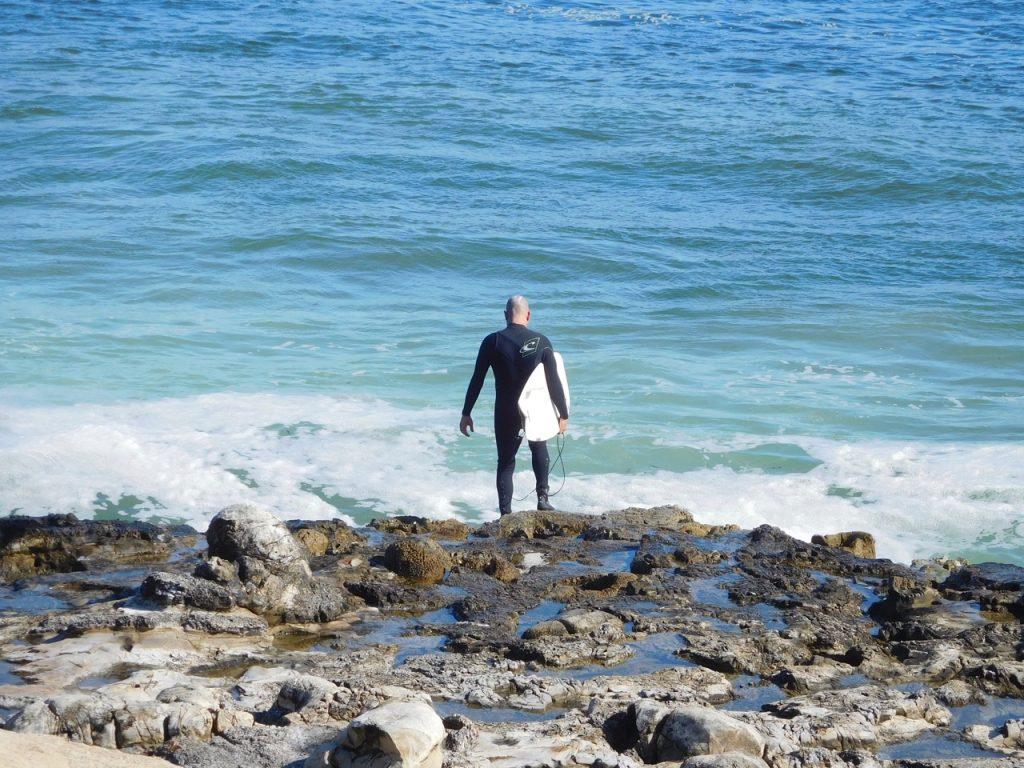 Another surfer in Santa Cruz
