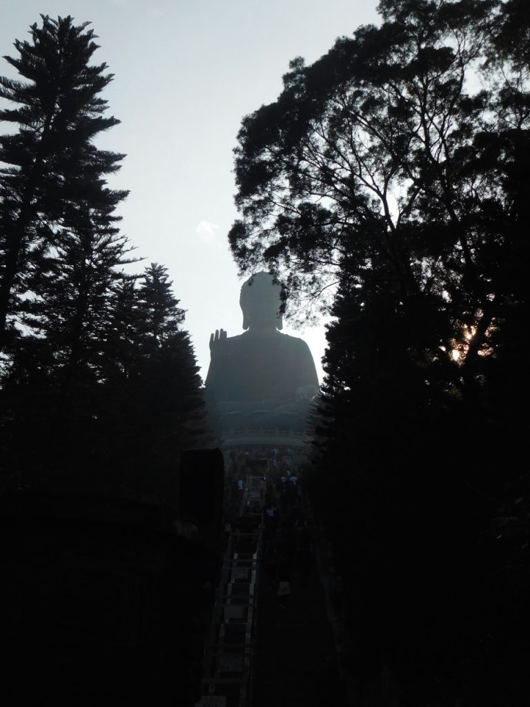 Big Buddha in the shadow