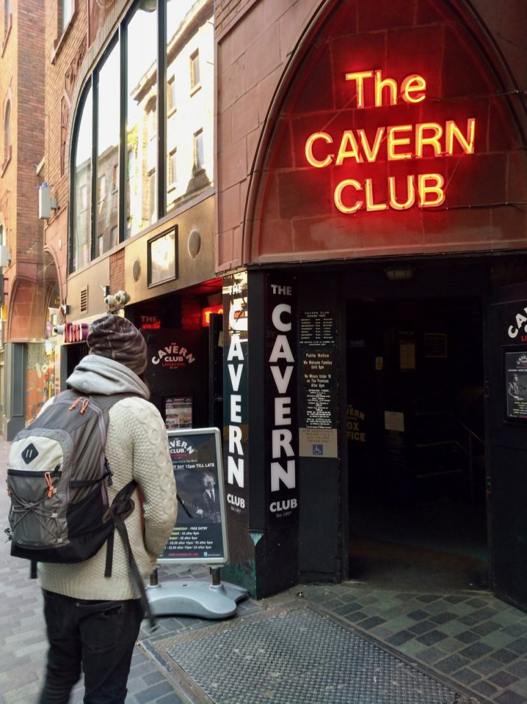 Simone in front of the cavern club in liverpool
