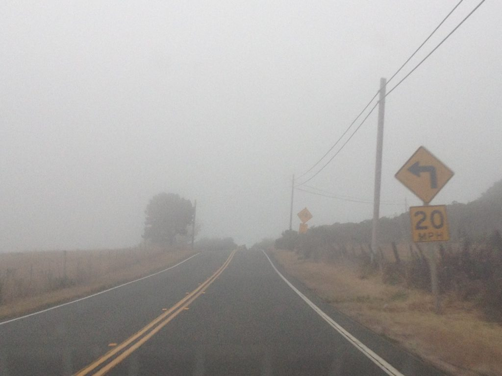 So misty you can barely see!