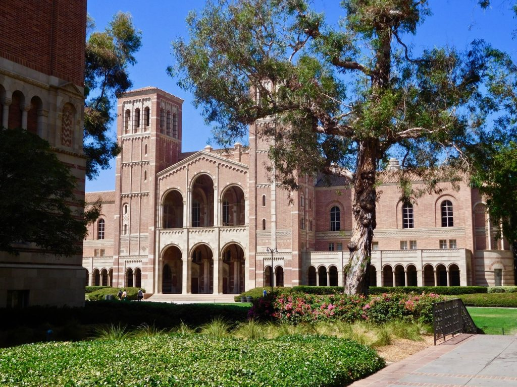 Building in the gorgeous UCLA