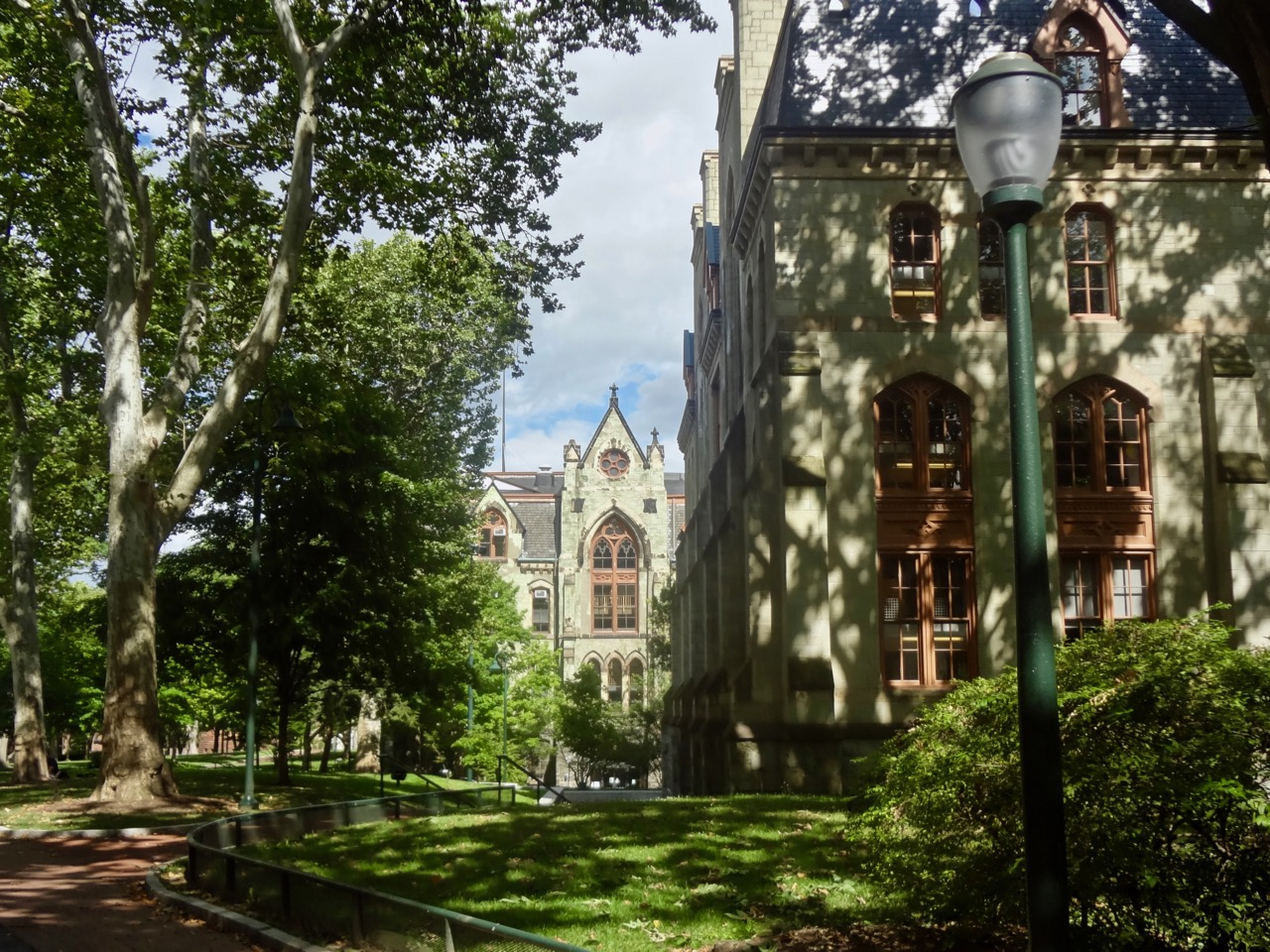 View of a green building in Upenn