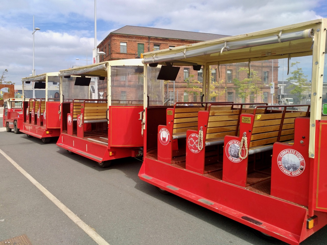 The Wee Tram Tour - Visiting the Titanic Museum in Belfast (1)