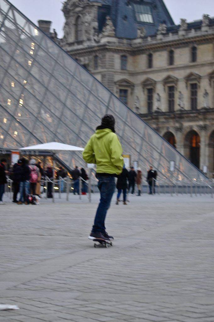 Winter in Paris - Skateboarding at the Louvre Pyramids (14)