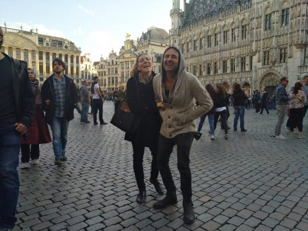 Having fun in Bruxelles Grand Place 2017