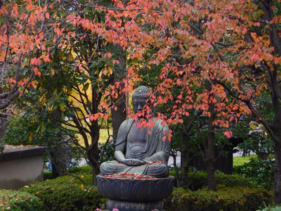 A Buddhist statue in Asakusa, Tokyo