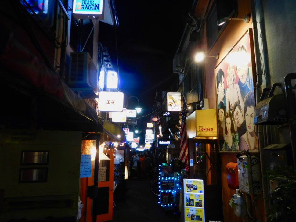 Golden Gai or Piss Alley at night in Shinjuku, Tokyo