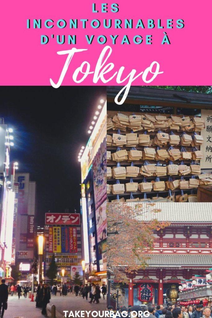 Epingle pinterest des incontournables à Tokyo