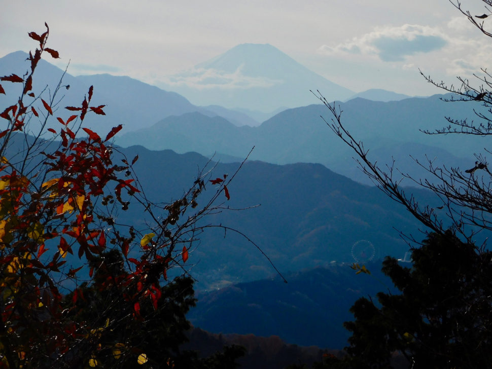 View of the Mount Fuji from Mount Takao (Takao-san), an amazing day trip from Tokyo
