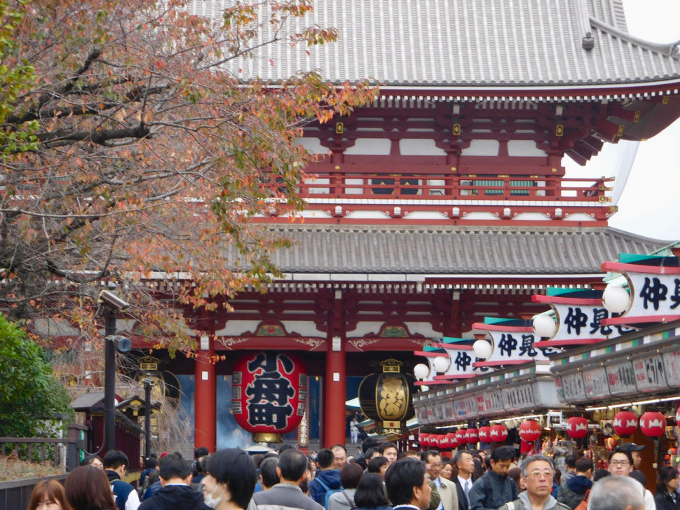 The very famous Senso-ji Temple in Asakusa in Tokyo