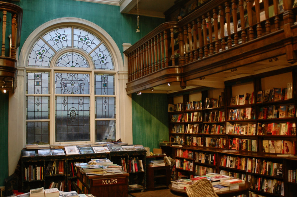 A view of a room in Daunt Books during our Harry Potter weekend in London