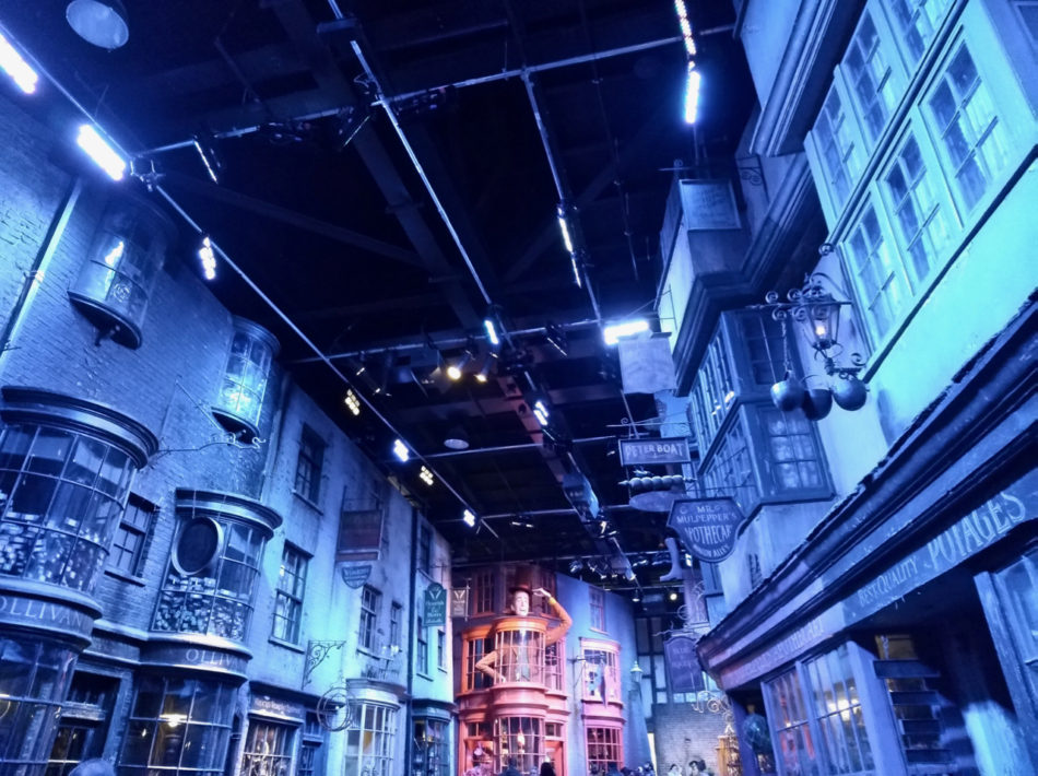 Diagon Alley decor at the Harry Potter Warner Bros Studio