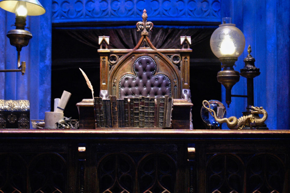 Dumbledore's desk at the Harry Potter Warner Bros Studio