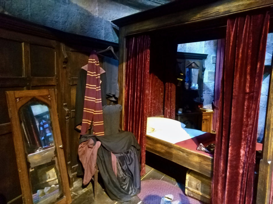 Gryffindor Boys Dormitory at the Harry Potter Warner Bros Studio