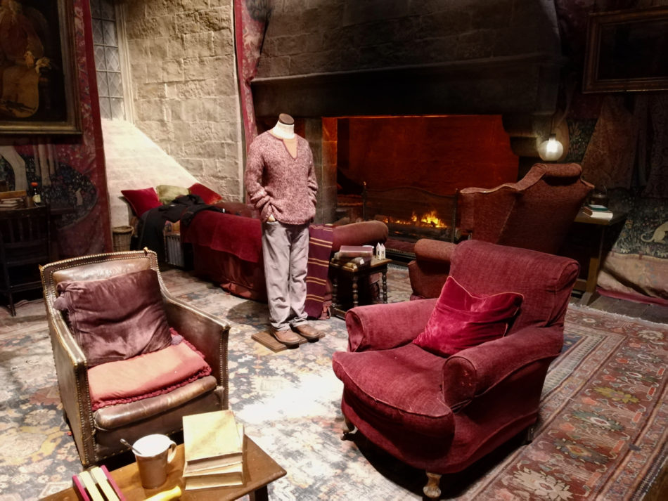 The Gryffindor Common Room at the Harry Potter Studio in London