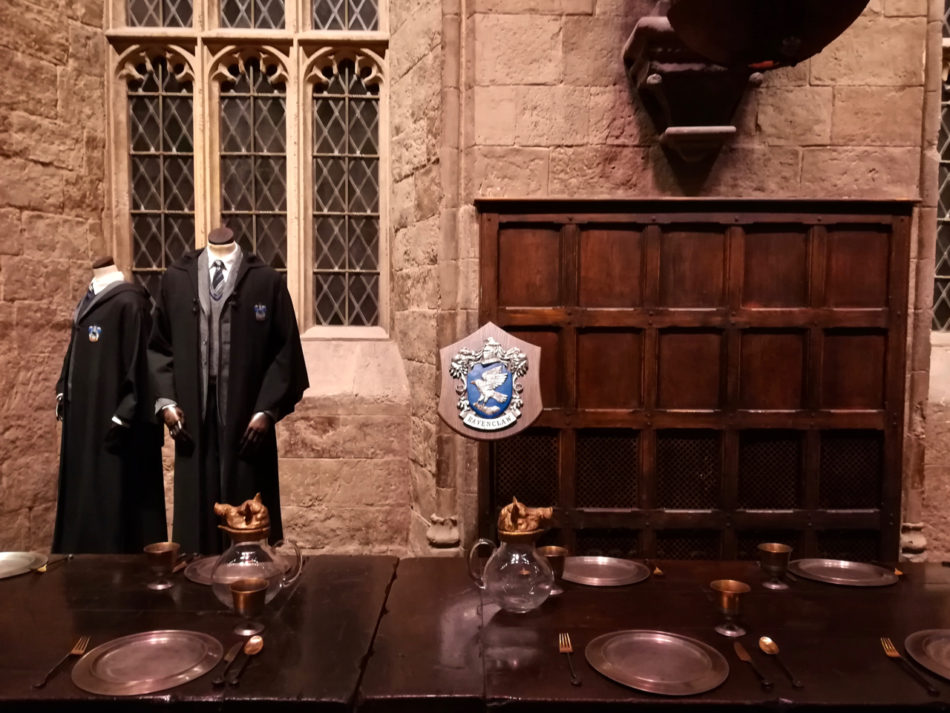Harry Potter Warner Bros Studio Ravenclaw Table in the Great Hall