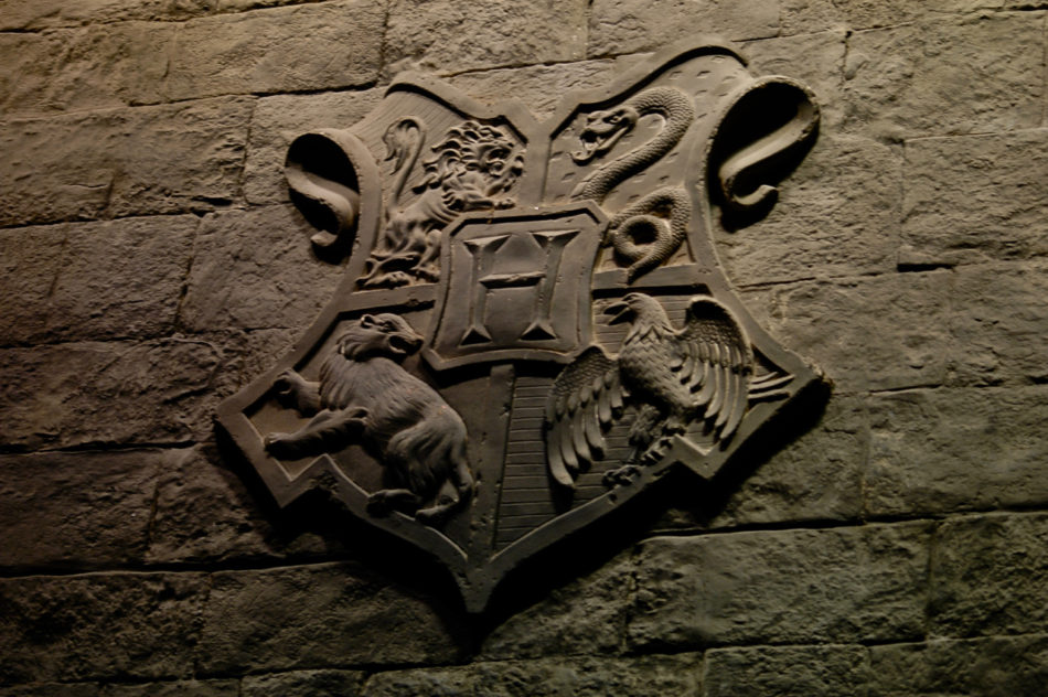 Hogwarts Crest in the Great Hall at the Harry Potter Warner Bros Studio