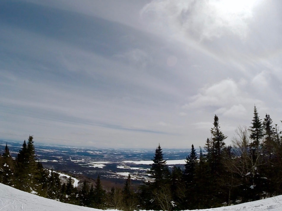 The view from one of the slopes in Mont Orford in Quebec