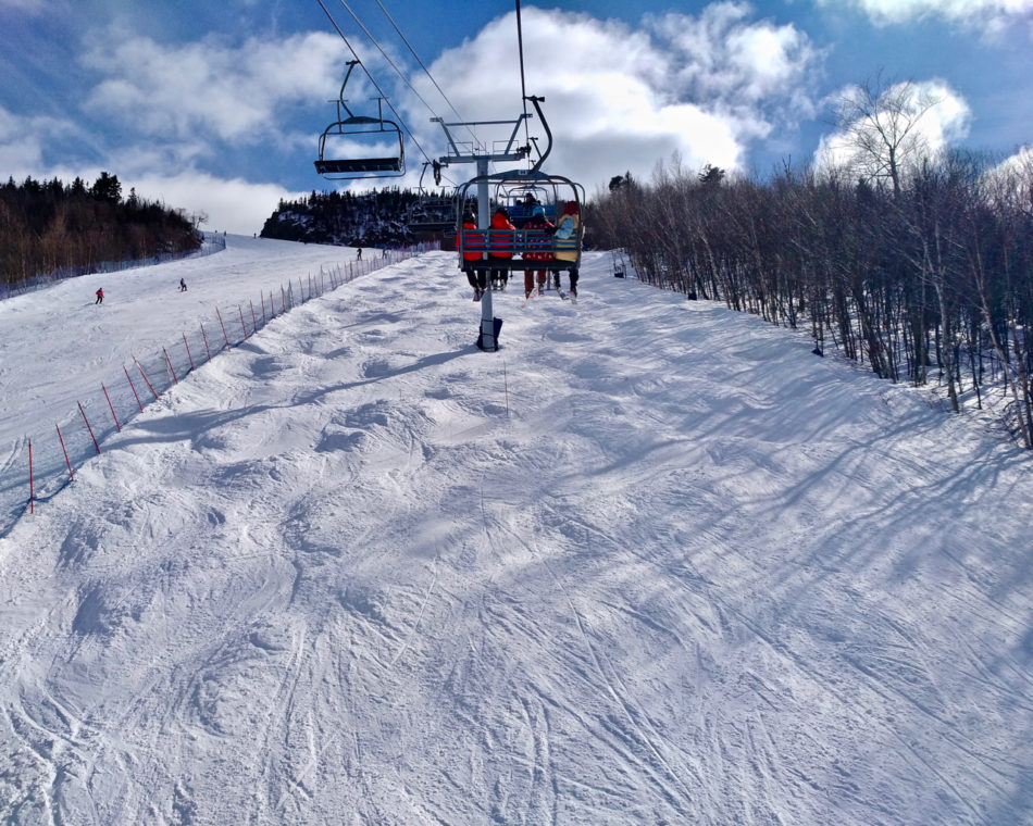 Ski lift at Mont Orford ski resort