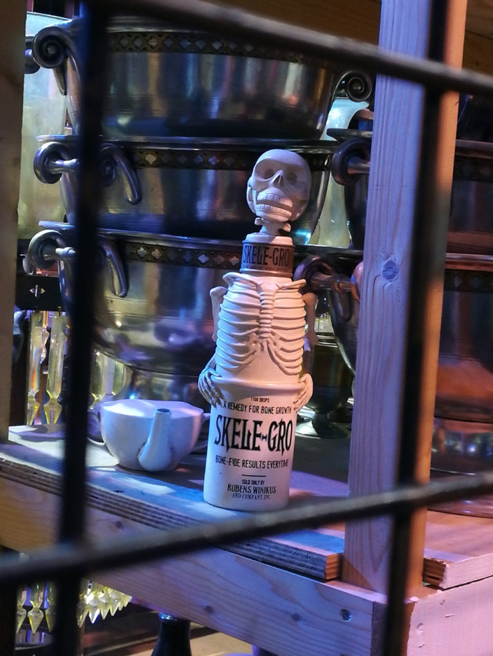 Skele-Gro bottle at the Harry Potter Warner Bros Studios
