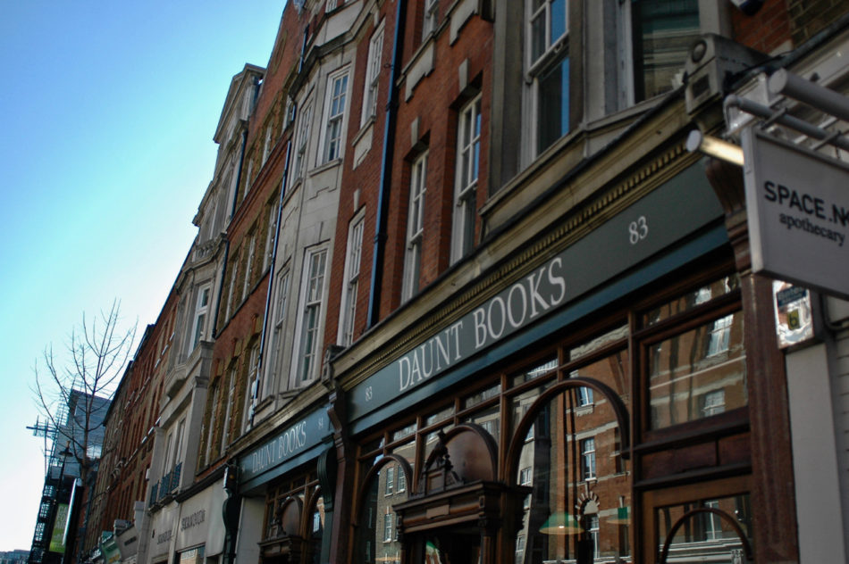 The outside of Daunt Books - perfect stop during a Harry Potter weekend in London