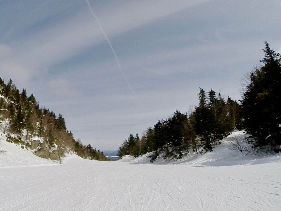 One of the ski slopes at Mont Orford in Quebec