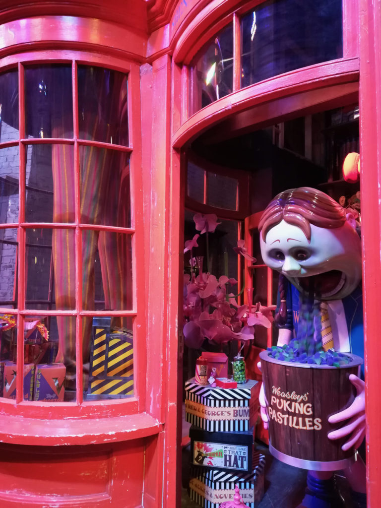 Weasley Shop in Diagon Alley at the Harry Potter Warner Bros Studio