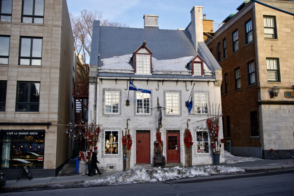 A house close to the Hôtel de ville in Québec city