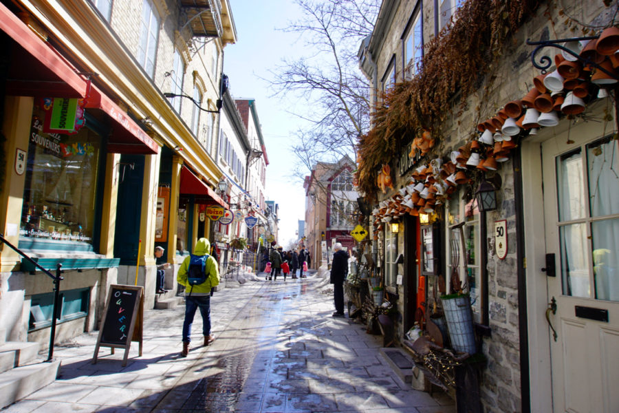 Une jolie rue du Vieux-Québec