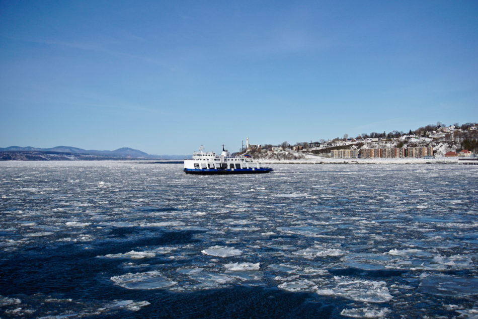 Another ferry boat on the Saint Lawrence river between Québec and Lévis