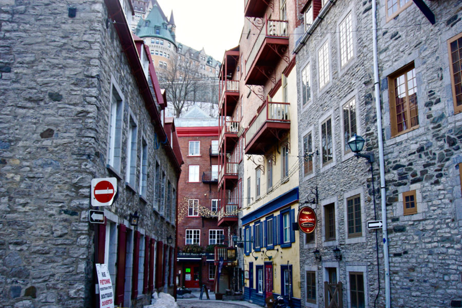 One of the cute streets of Old Québec