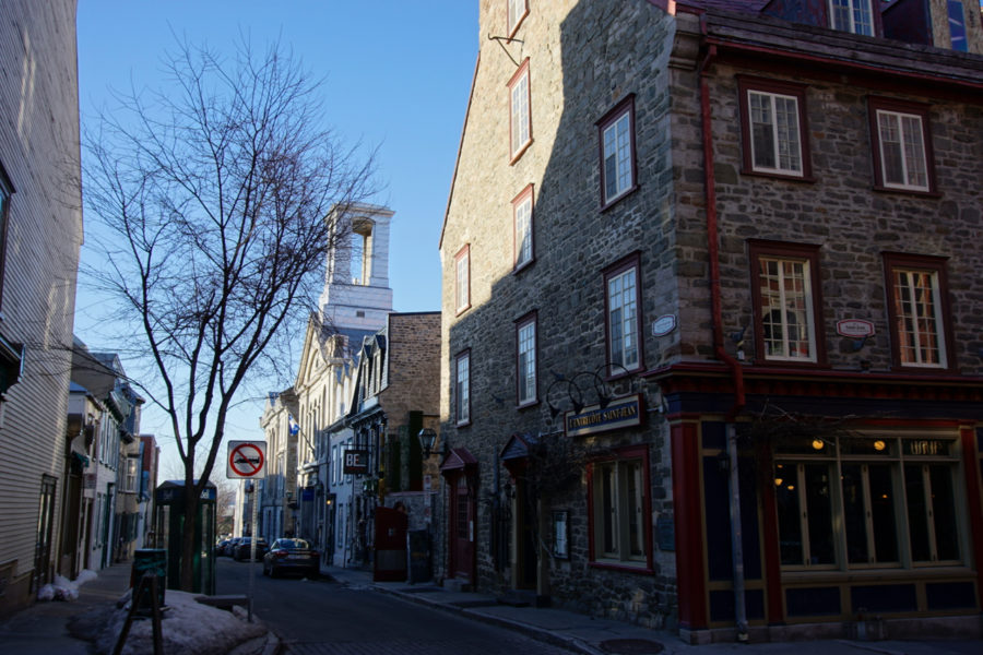Part of rue Saint-Jean in Québec city