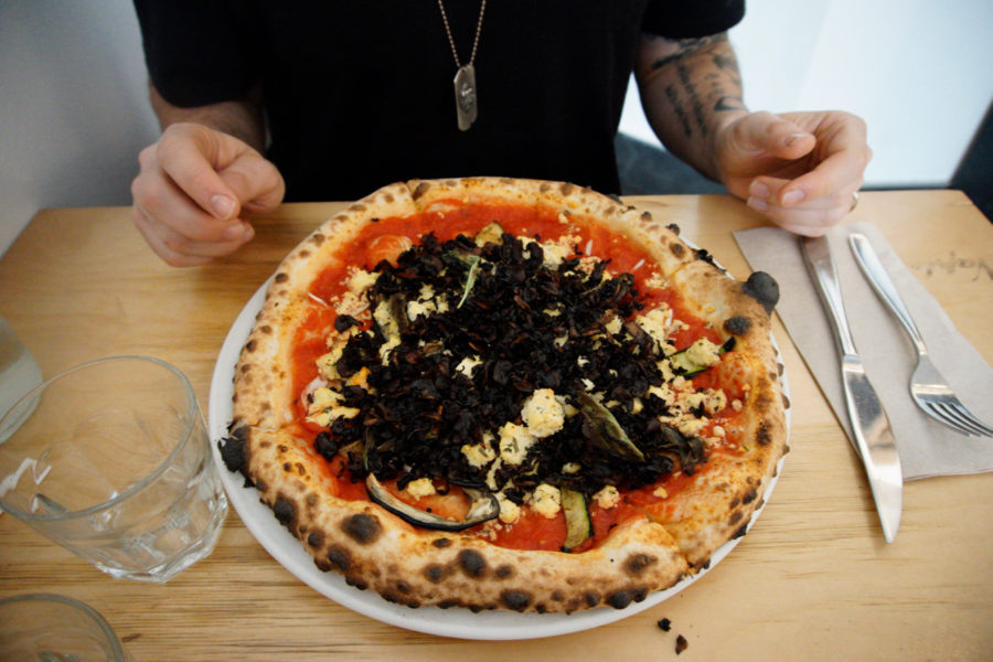 Piena di verdura vegan pizza at Nina Pizza Napolitaine in Québec city