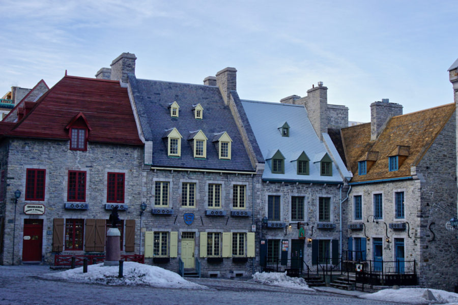Place Royale in Old Québec Petit Champlain district