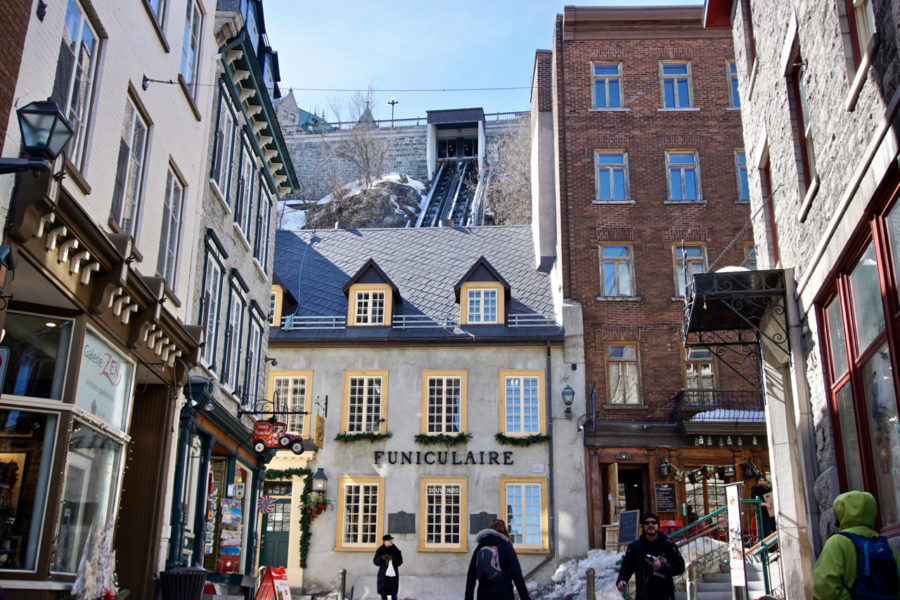 The House in which starts the funicular in Old Québec