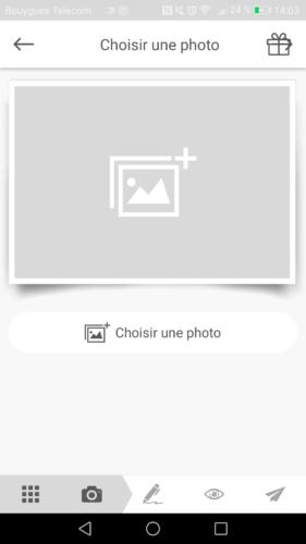 Choisir une photo pour faire une carte postale en ligne avec MyPostcard