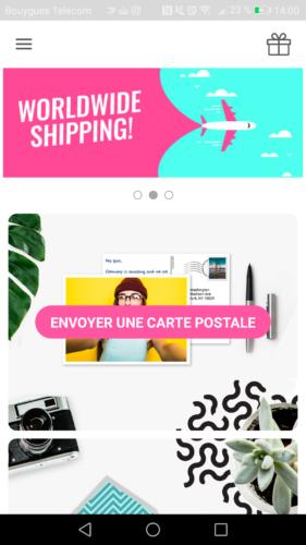 Envoyer une carte postale en ligne avec l appli MyPostcard