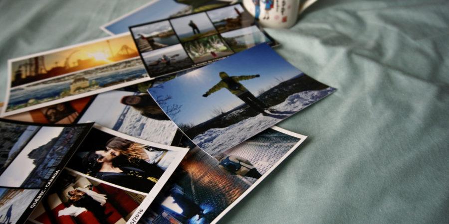Photo de toutes les cartes postales en ligne recue grace a MyPostcard