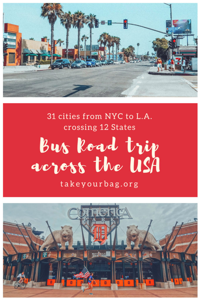 USA cross-country by bus | Traveling across the US using Megabus and Greyhound buses | Taking buses to cross 12 American States #bustrip #busintheusa #greyhound