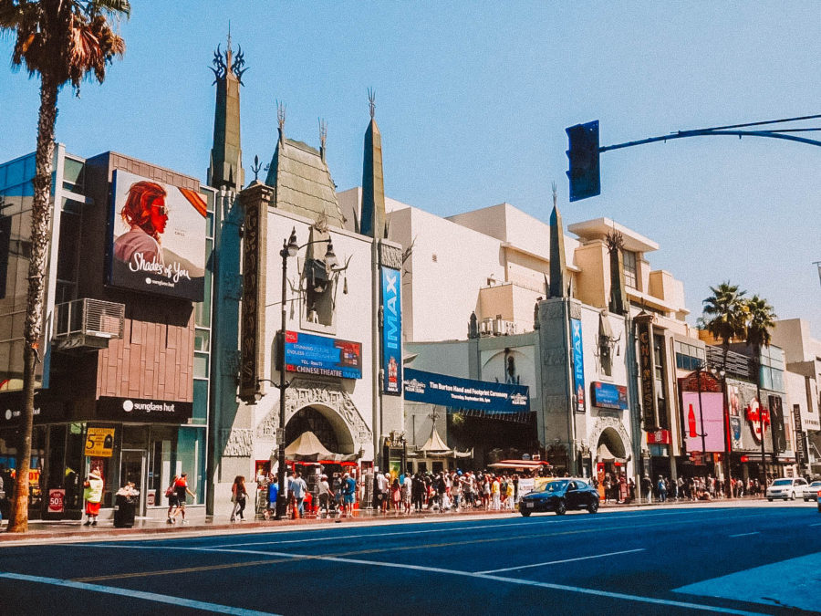 Itinerary USA road trip by bus - Hollywood Boulevard in Los Angeles, CA