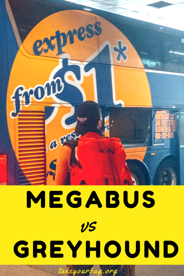 Our complete Megabus vs Greyhound review while traveling by bus in the US   Is Greyhound better in California ?   Is Megabus cheaper than Greyhound? Find all the answers here! #megabus #greyhound #bus