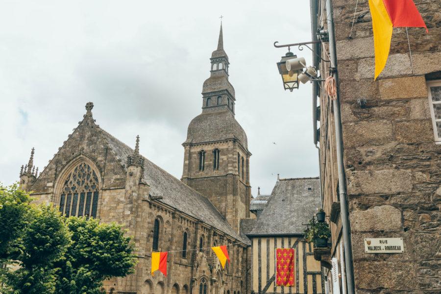 La basilique Saint Sauveur de Dinan lors de notre road trip Bretagne