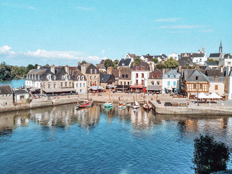 Le joli port de Saint-Goustan à Auray en Bretagne près de Vannes