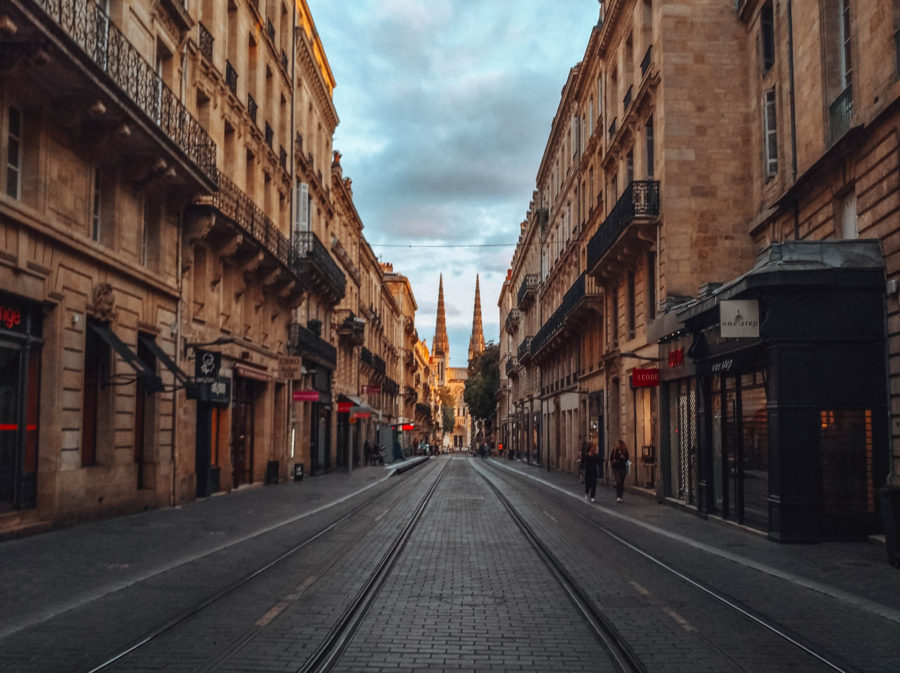The city of Bordeaux in France on our van road trip